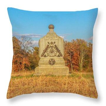 1st New York Battery D Gettysburg Throw Pillow