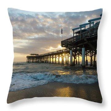 1st Sunrise 2017 Cocoa Beach Throw Pillow