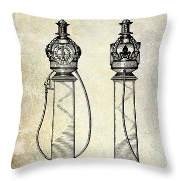 1932 Gas Pump Patent  Throw Pillow