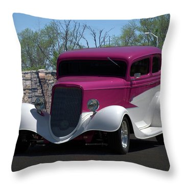 1933 Ford Vicky Throw Pillow