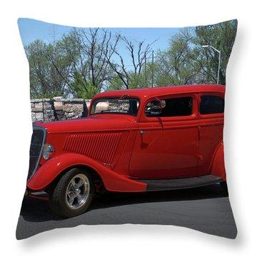 1934 Ford Sedan Hot Rod Throw Pillow