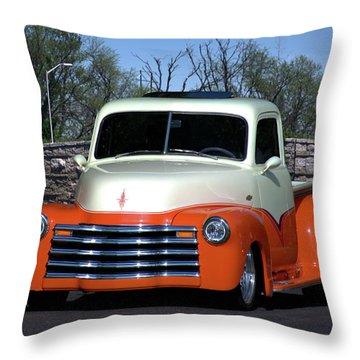 1952 Chevrolet Pickup Truck Throw Pillow
