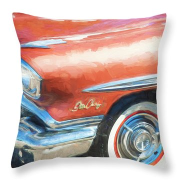 Throw Pillow featuring the photograph 1958 Pontiac Star Chief  by Rich Franco