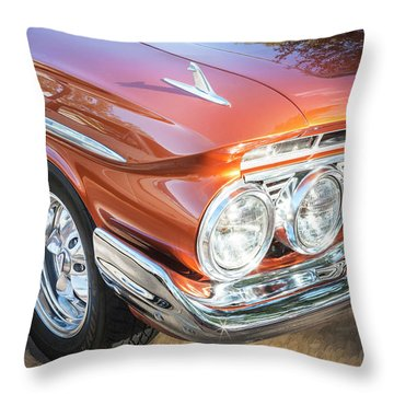 Throw Pillow featuring the photograph 1961 Chevrolet Impala Ss  by Rich Franco