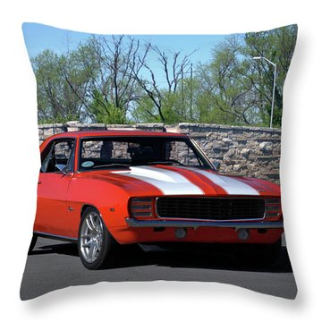 1969 Camaro Throw Pillow