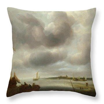 A Coast Scene Throw Pillow