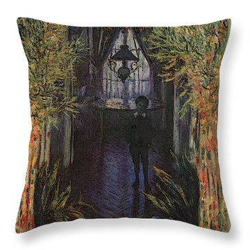 A Corner Of The Apartment Throw Pillow by Claude Monet