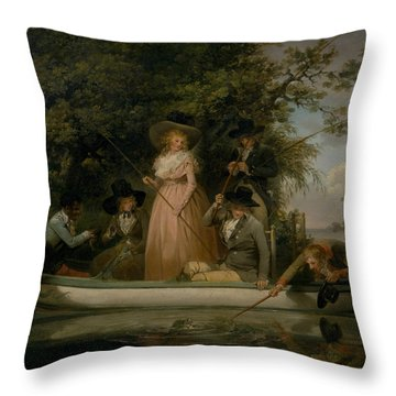 Angling Art Throw Pillows