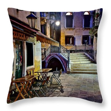An Evening In Venice Throw Pillow