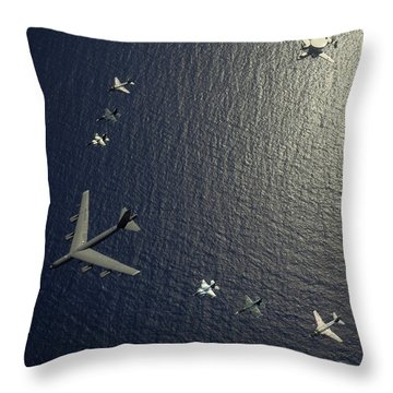 A U.s. Air Force B-52 Stratofortress Throw Pillow by Stocktrek Images
