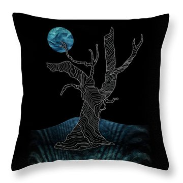 Abstract Gnarly Tree Throw Pillow