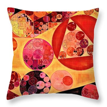 Abstract Painting - Bulgarian Rose Throw Pillow