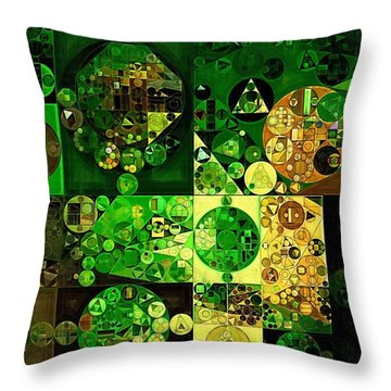 Throw Pillow featuring the digital art Abstract Painting - Dell by Vitaliy Gladkiy