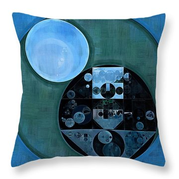 Abstract Painting - Lapis Lazuli Throw Pillow