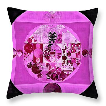 Throw Pillow featuring the digital art Abstract Painting - Lavender Magenta by Vitaliy Gladkiy