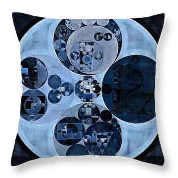 Throw Pillow featuring the digital art Abstract Painting - Polo Blue by Vitaliy Gladkiy