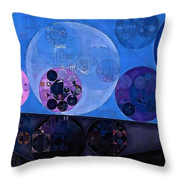 Throw Pillow featuring the digital art Abstract Painting - Saint Patrick Blue by Vitaliy Gladkiy