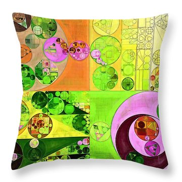 Abstract Painting - Turtle Green Throw Pillow