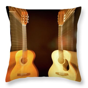 Acoustic Overtone Throw Pillow by Leland D Howard
