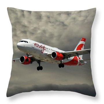 Air Canada Rouge Airbus A319 Throw Pillow