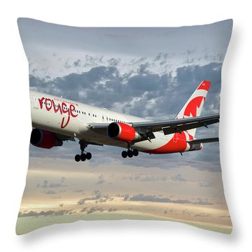 Air Canada Rouge Boeing 767-333 114 Throw Pillow
