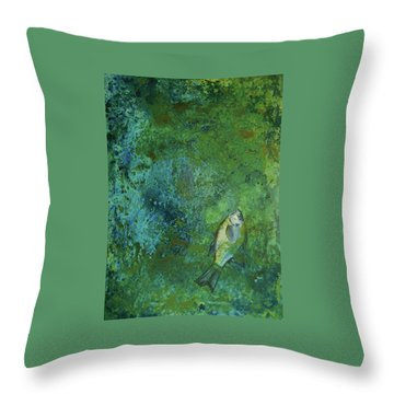 Algae Bloom Throw Pillow