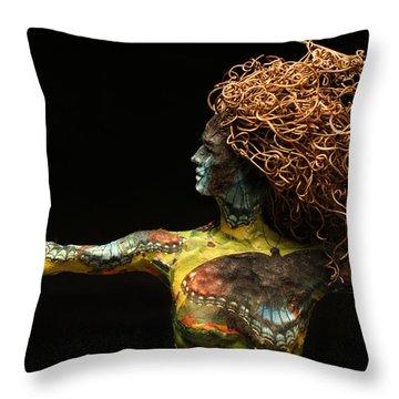Alight A Sculpture By Adam Long Throw Pillow by Adam Long
