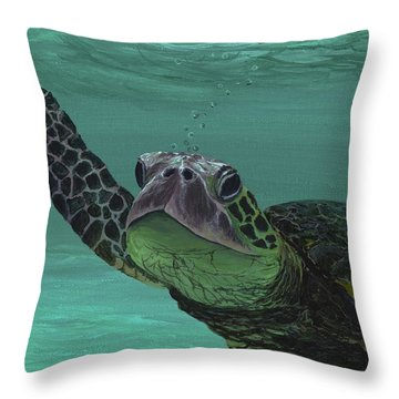 Throw Pillow featuring the painting Aloha From Maui by Darice Machel McGuire