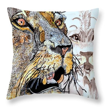 Always The King Throw Pillow by Connie Valasco