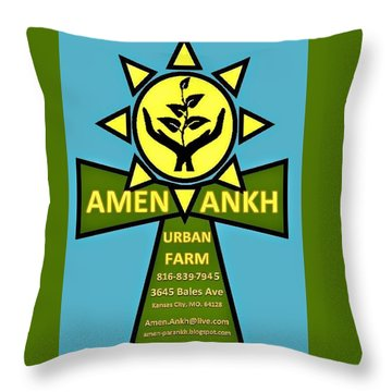 Amen Ankh Throw Pillow