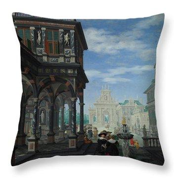 An Architectural Fantasy Throw Pillow