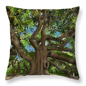 Angel Oak Throw Pillow