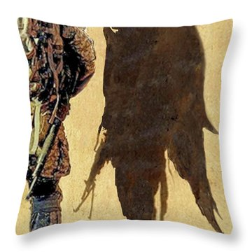 Angel Waiting Throw Pillow by Todd Krasovetz