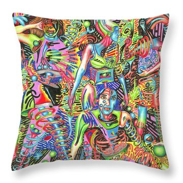 Animated Perspective Of Nocturnal Wandering Throw Pillow