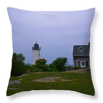 Annisquam Light. Gloucester, Ma. Throw Pillow