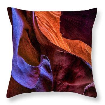 Antelope Canyon Colors Throw Pillow