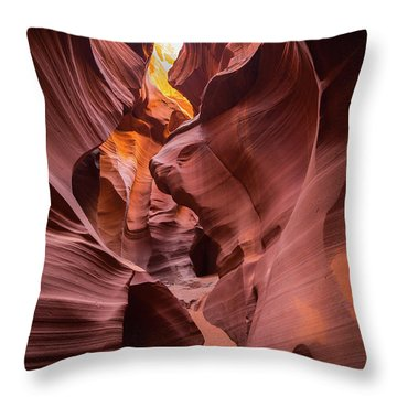 Antelope Canyon Throw Pillow by JR Photography