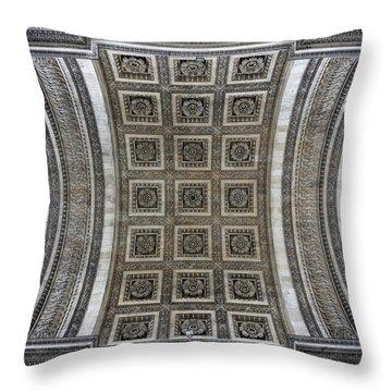 Arc De Triomphe Detail Throw Pillow