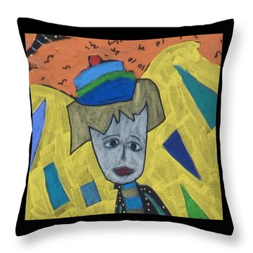 Throw Pillow featuring the painting Archangel Haniel by Clarity Artists