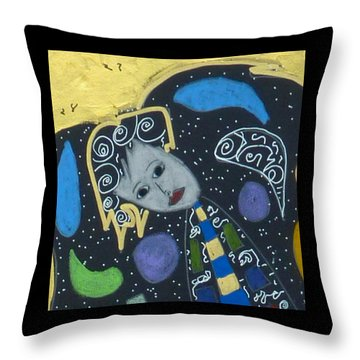 Throw Pillow featuring the painting Archangel Jophiel by Clarity Artists