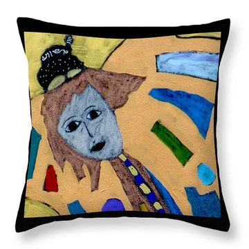 Throw Pillow featuring the painting Archangel Metatron by Clarity Artists