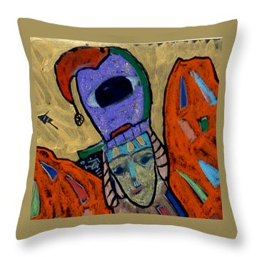 Throw Pillow featuring the painting Archangel Raguel by Clarity Artists