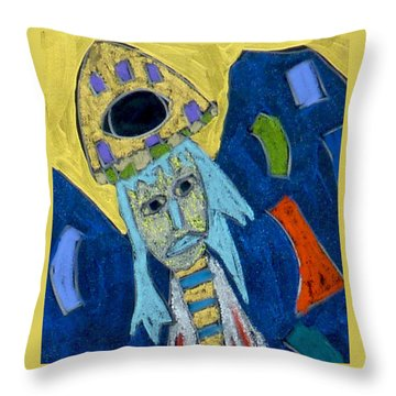 Throw Pillow featuring the mixed media Archangel Raphael by Clarity Artists