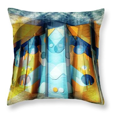 Throw Pillow featuring the photograph Architectural Abstract by Wayne Sherriff