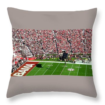 Army Rangers Drop In On Gameday Throw Pillow
