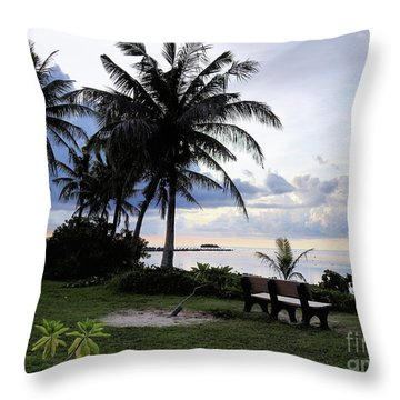 Asan Beach Guam Throw Pillow