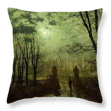 At The Park Gate Throw Pillow