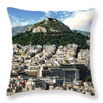 Athens Panorama Throw Pillow