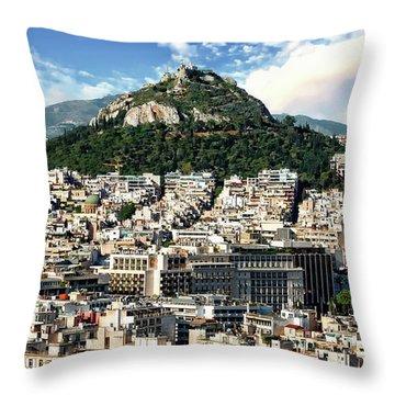 Athens Panorama Throw Pillow