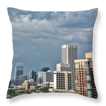 Atlanta Throw Pillow by Anna Rumiantseva